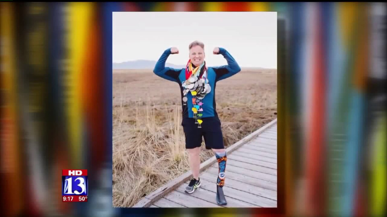 Utah man with prosthetic leg completes a marathon in all 50states