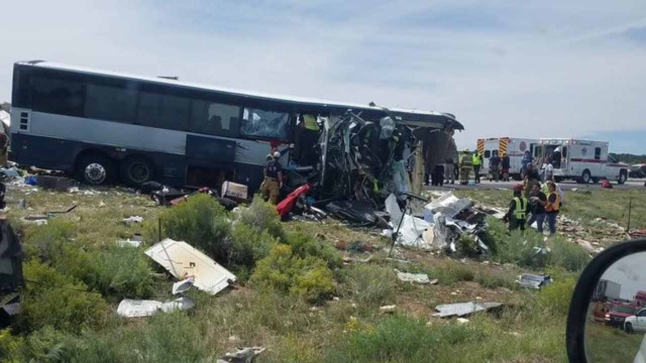 7 dead in New Mexico bus-truck crash, state police say