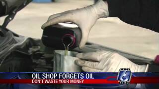 DWYM: Make sure the oil change shop puts oil in your car