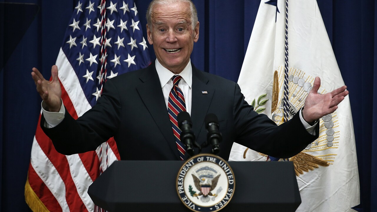 Joe Biden says he's in no hurry to make a 2020 announcement