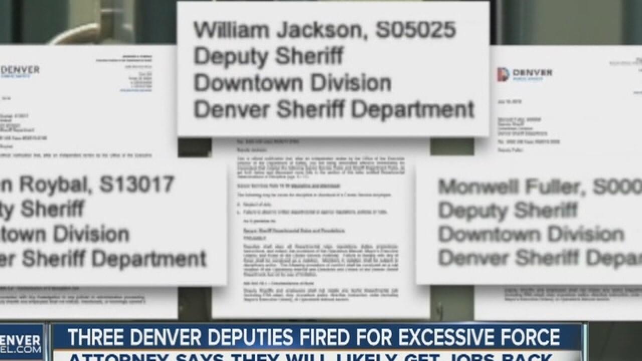 3 Denver deputies fired for excessive force