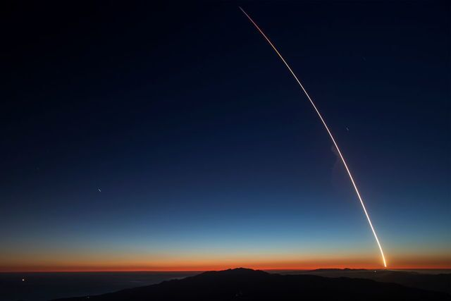 Photos: SpaceX rocket launch lights up evening sky