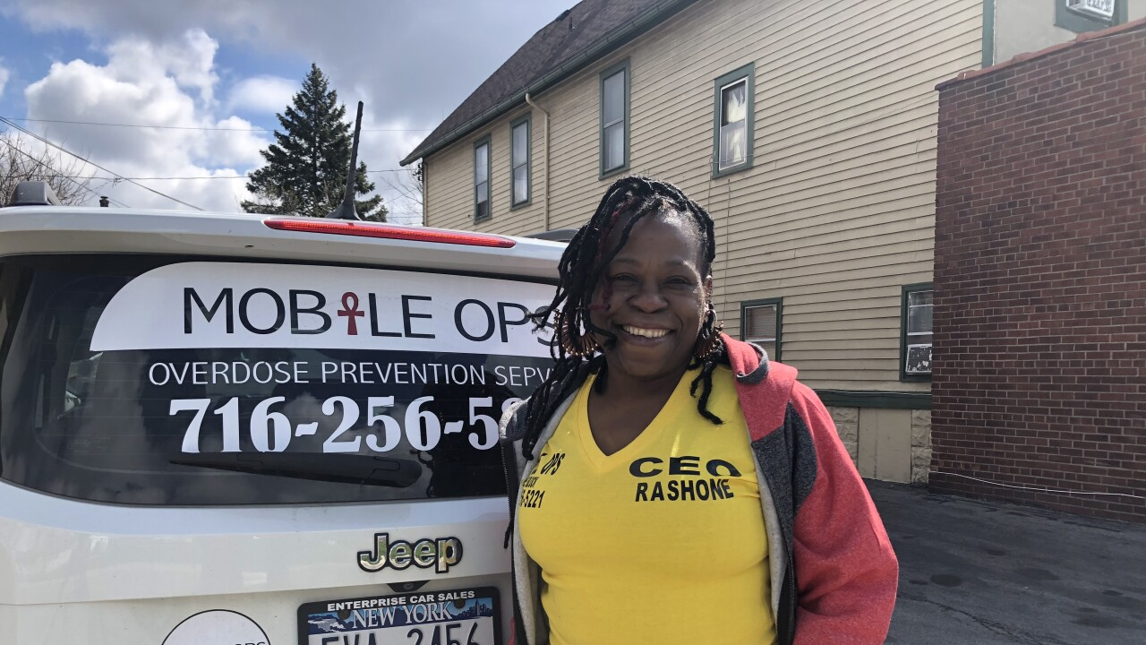 Rashone Scott-Williams rides around Buffalo's Riverside Neighborhood, battling the opioid epidemic