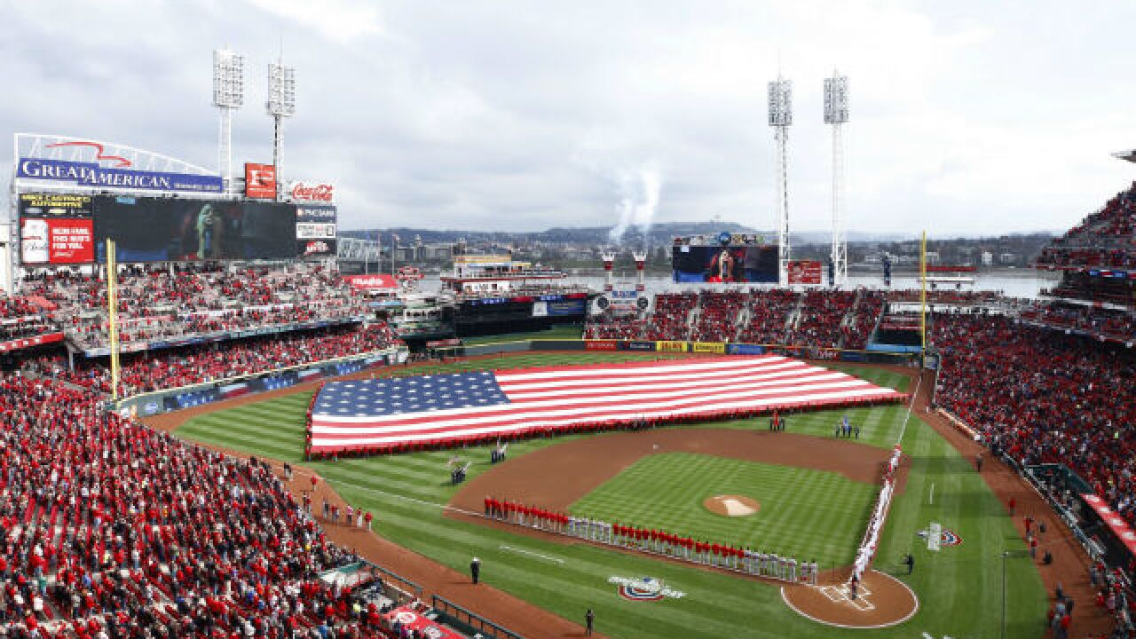 Reds strike out 14 times in 2-0 Opening Day loss