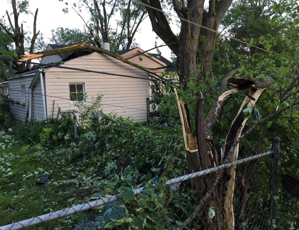 The sun is shedding light on some of the widespread damage across parts of Pendleton following the possible Memorial Day tornadoes.