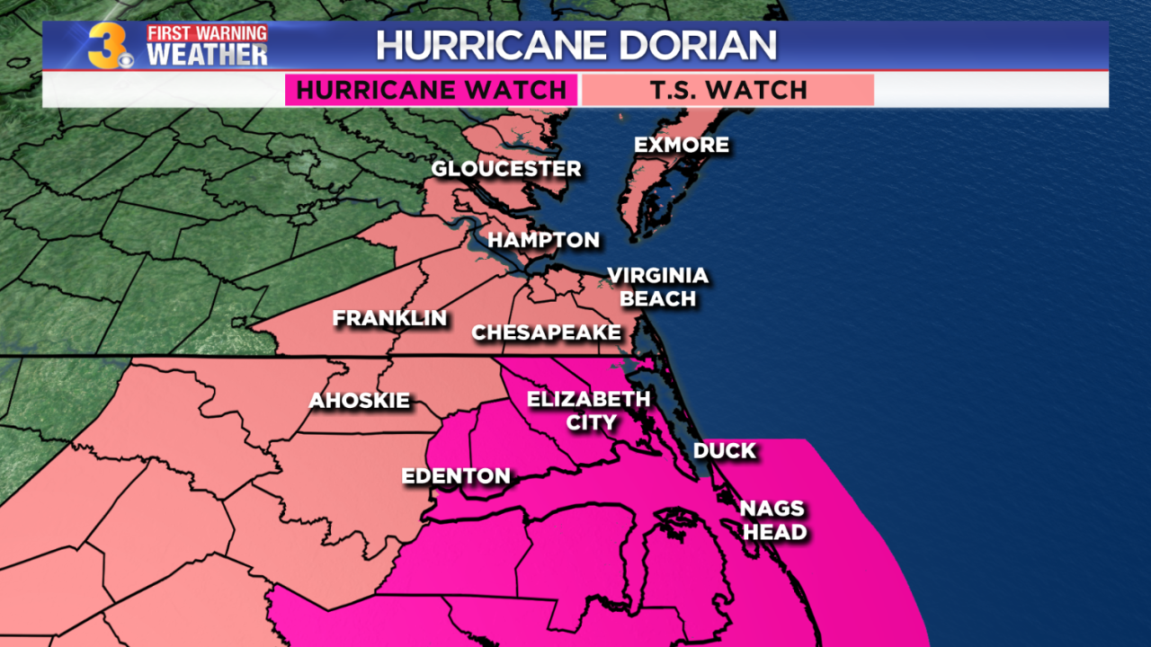 Maddie's First Warning Forecast: Latest on Hurricane Dorian, our potentialimpacts