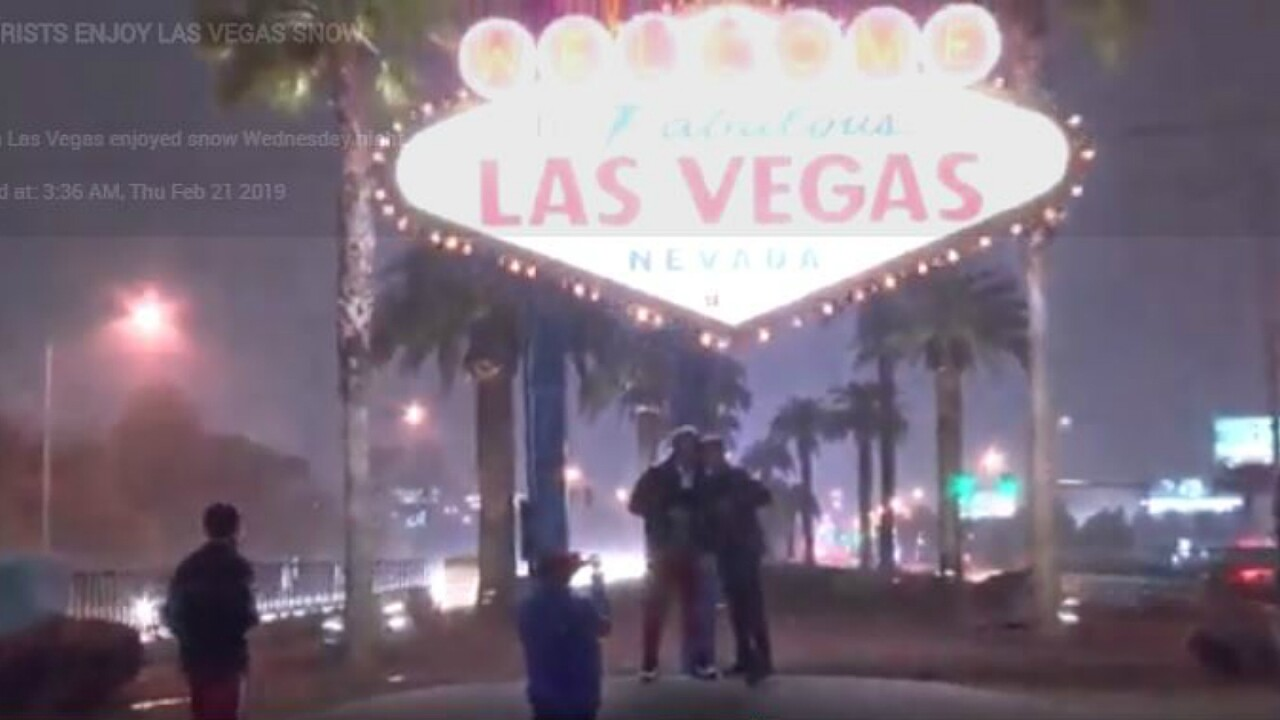 The hottest show in Las Vegas right now is snow