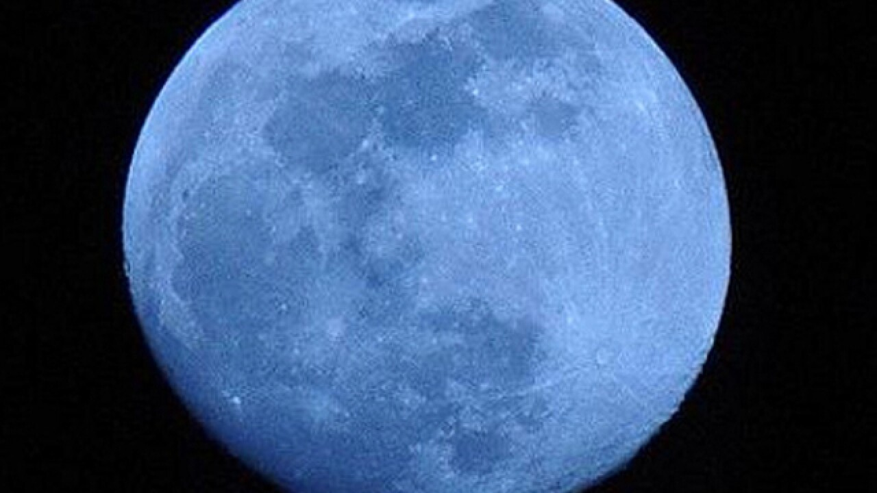 Check out the blue moon and full Mars Saturday