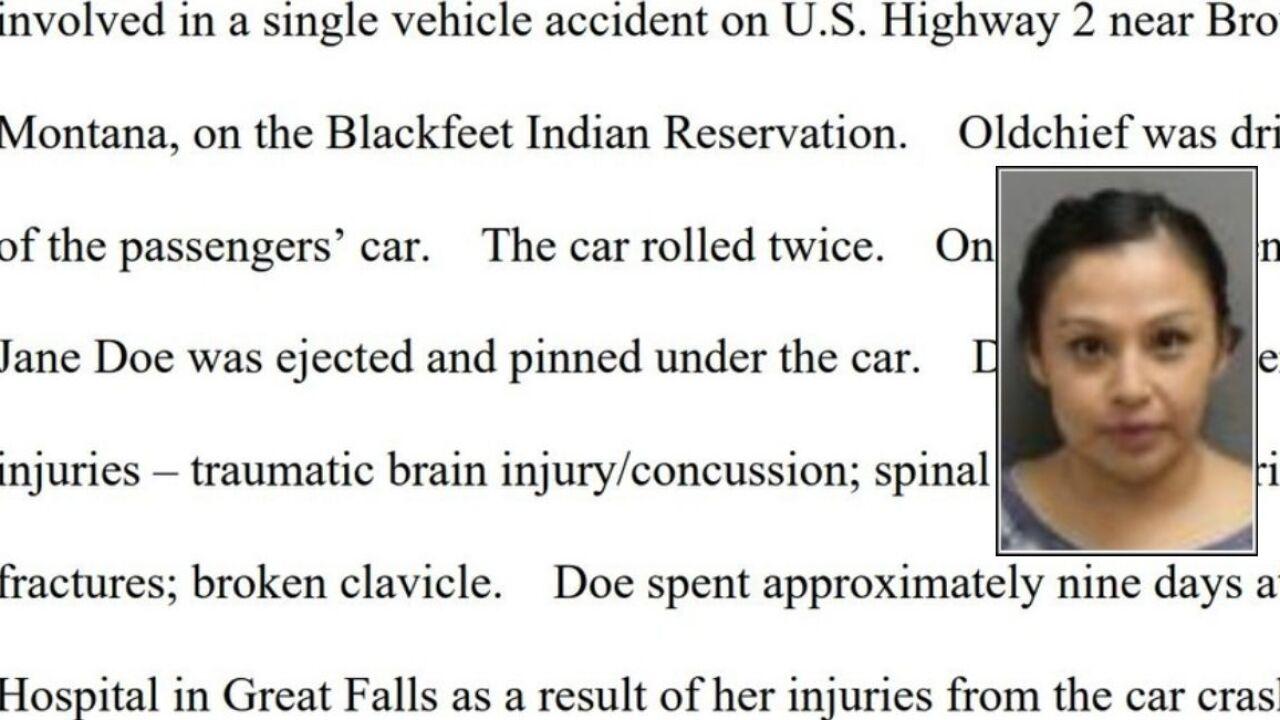 Browning woman sentenced for DUI crash that injured passenger