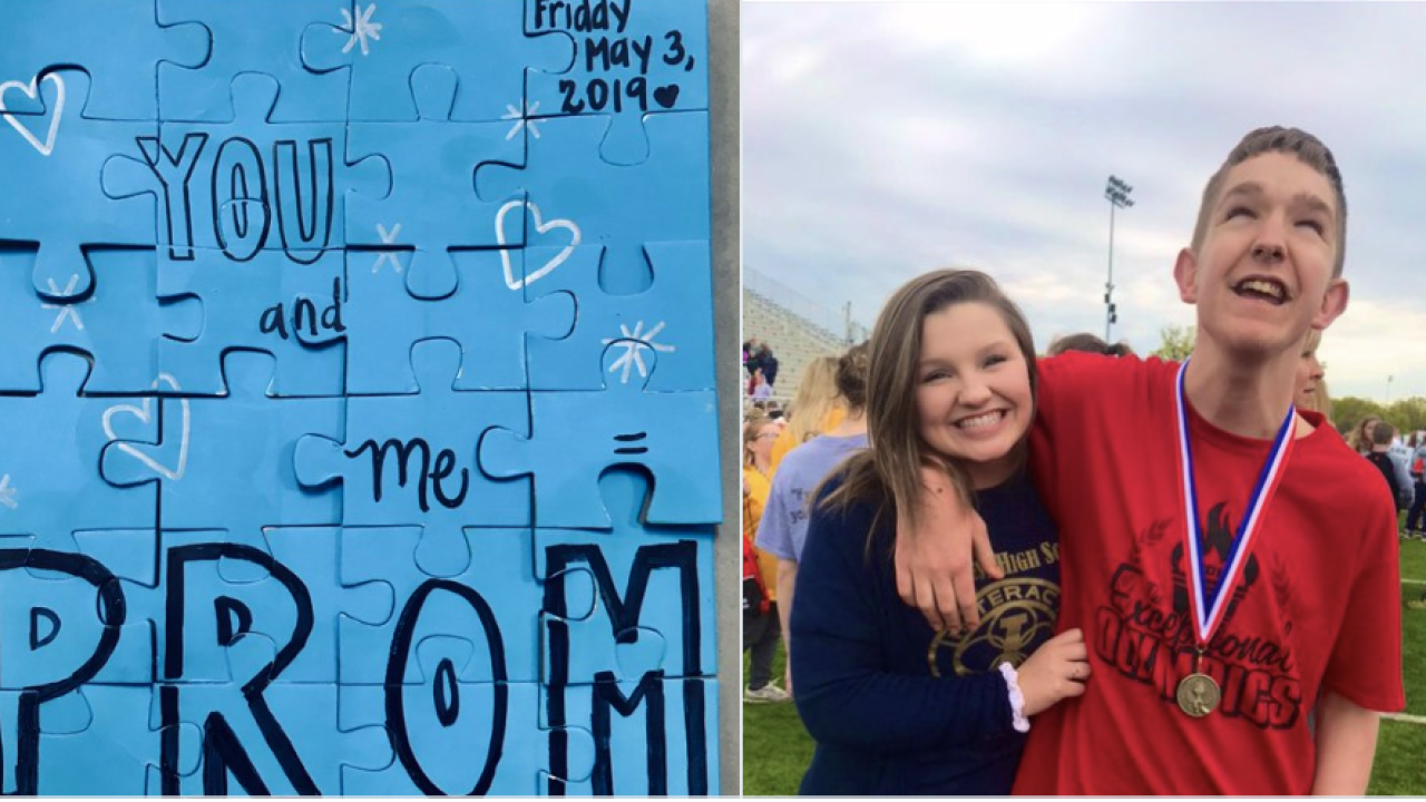 Watch: This promposal from a nonverbal student in Ohio is melting hearts on the internet