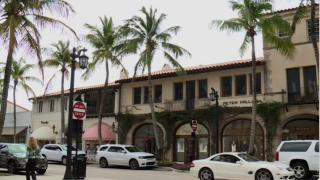 Peter Millar and other businesses on Worth Avenue in Palm Beach