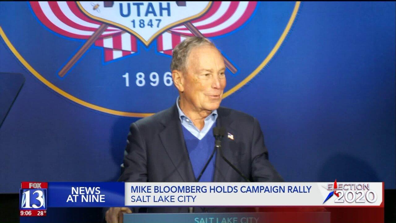Mike Bloomberg visits Salt Lake City on Presidential campaignstop