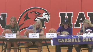 Four Bozeman High athletes celebrate signing day by putting ink to paper