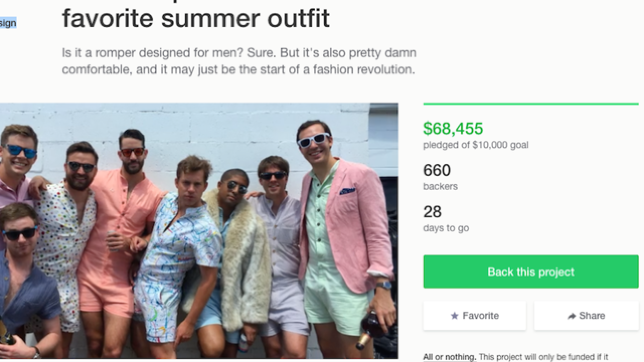 d8927784a63b RompHim  Kickstarter campaign aims to make onesies fashionable for men
