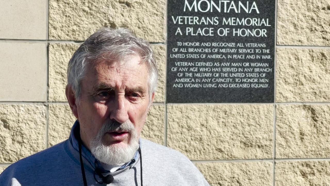 Montana Veterans Memorial Association president Michael Winters