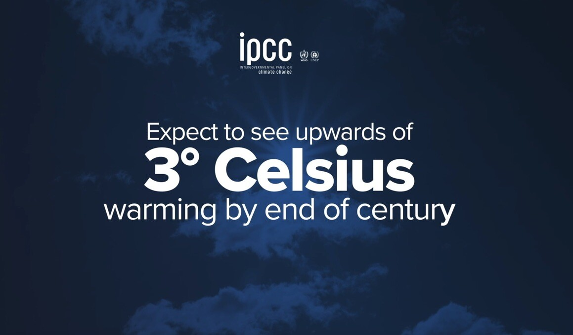 IPCC global temperature projection