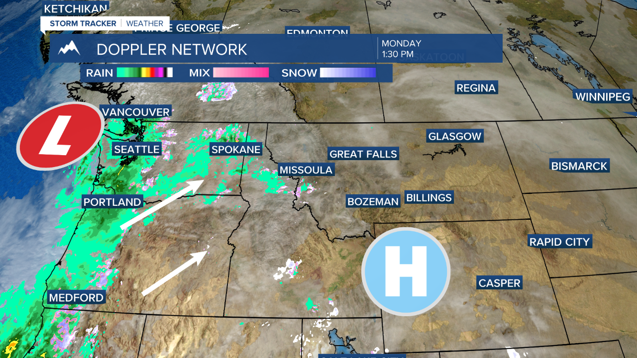 More rain and snow on the way for Western Montana