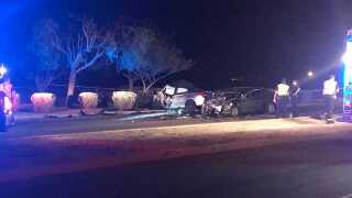 FD: 4 kids, 2 adults hospitalized after crash in Phoenix near 91st/Superior avenues