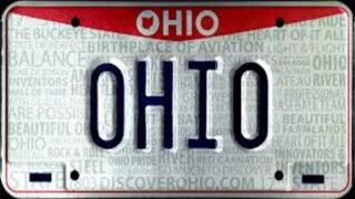 Which Ohio license plates were banned and why?
