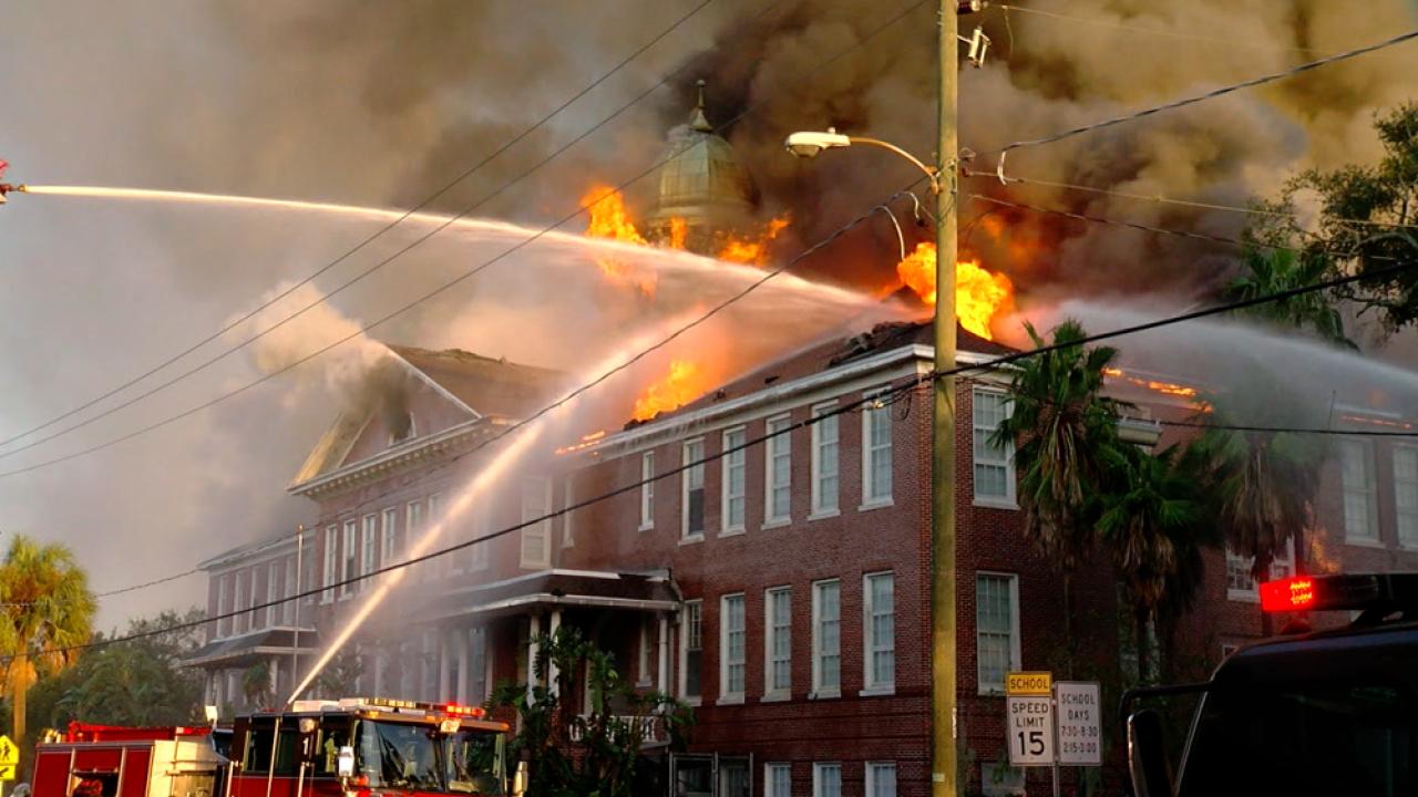 Lee Elementary School fire