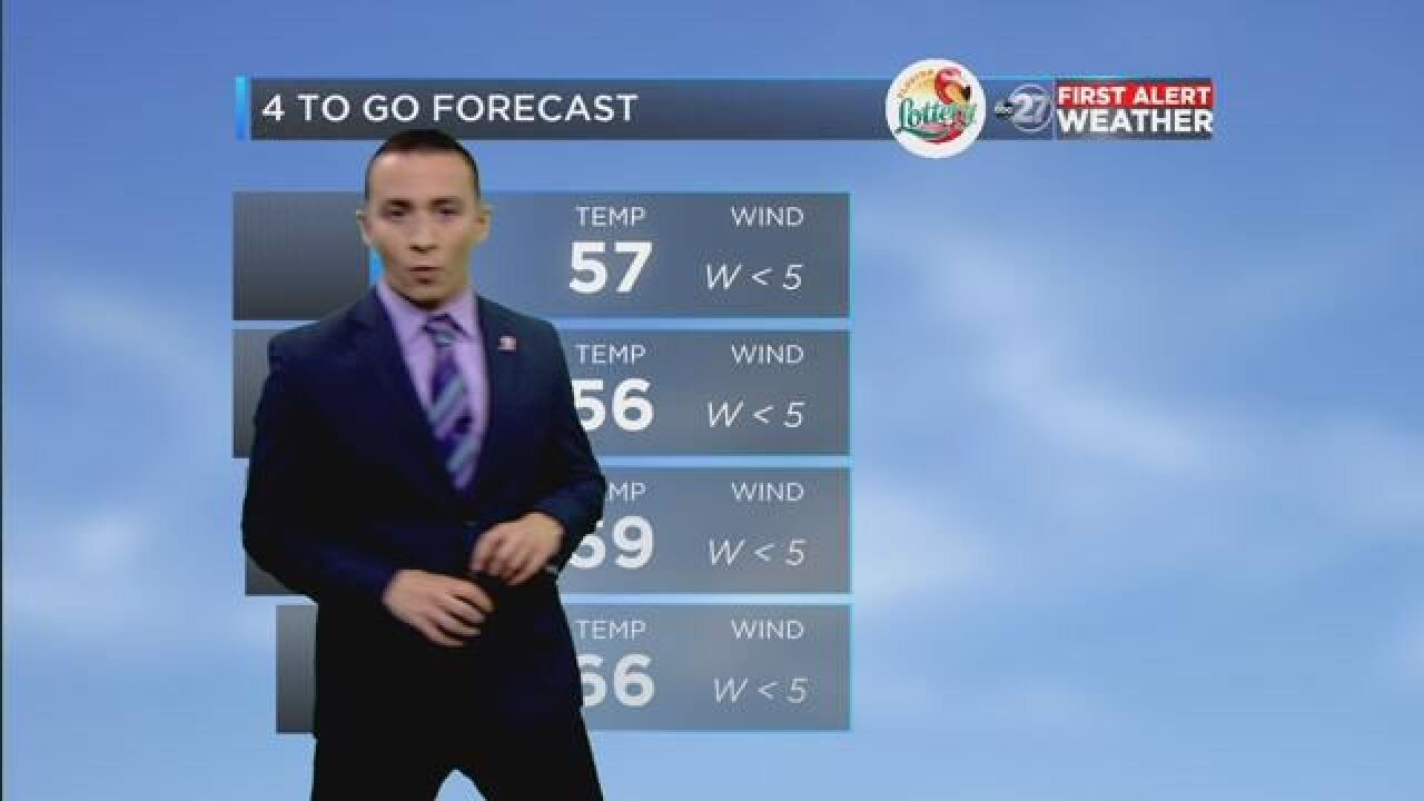 First Alert 4-to-Go Forecast: Oct. 29, 2018