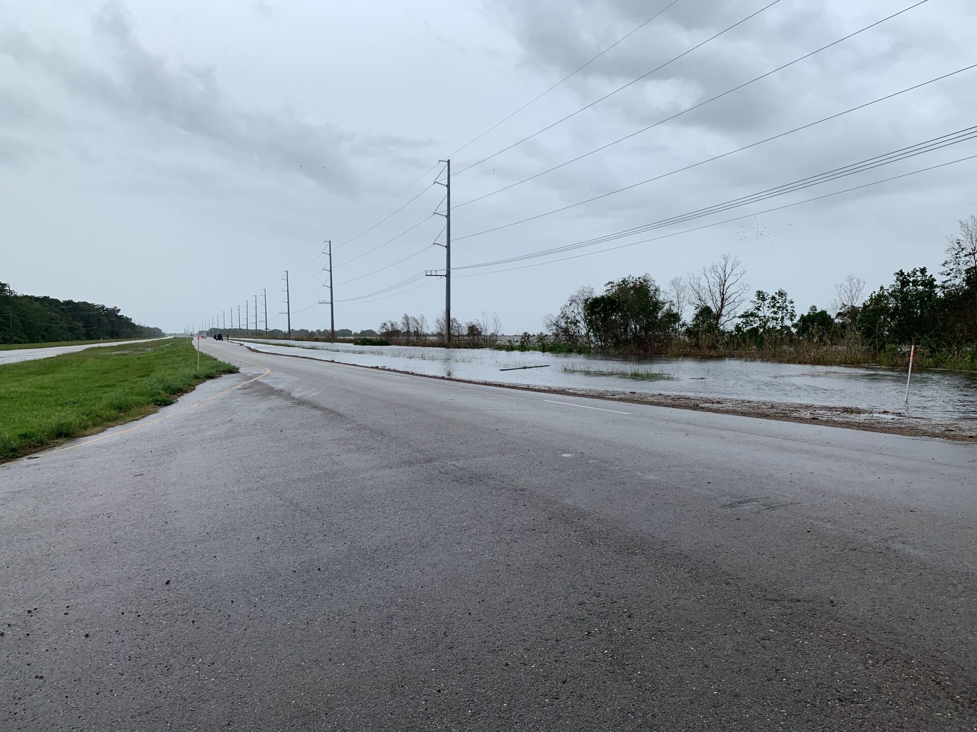 Barry flooding in Plaquemines Parish Louisiana