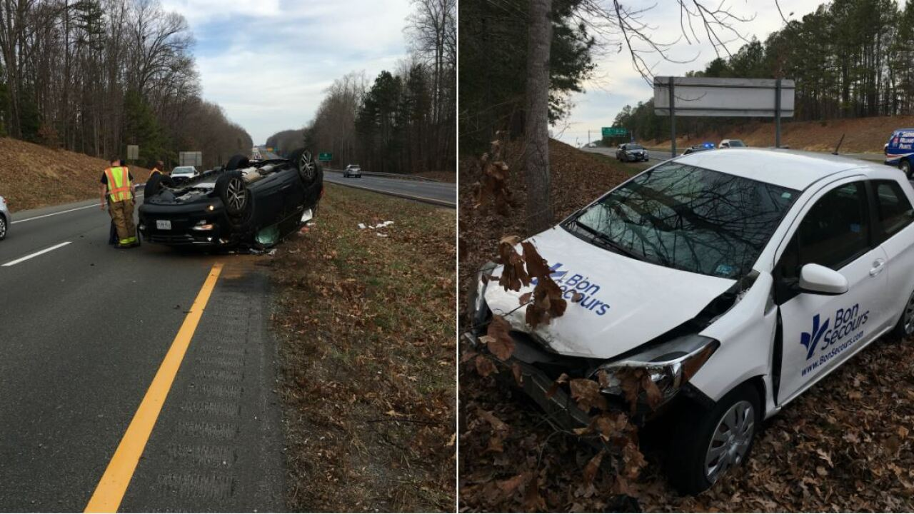 Teen thrown from SUV, others hurt in wrong-way crash on PowhiteParkway
