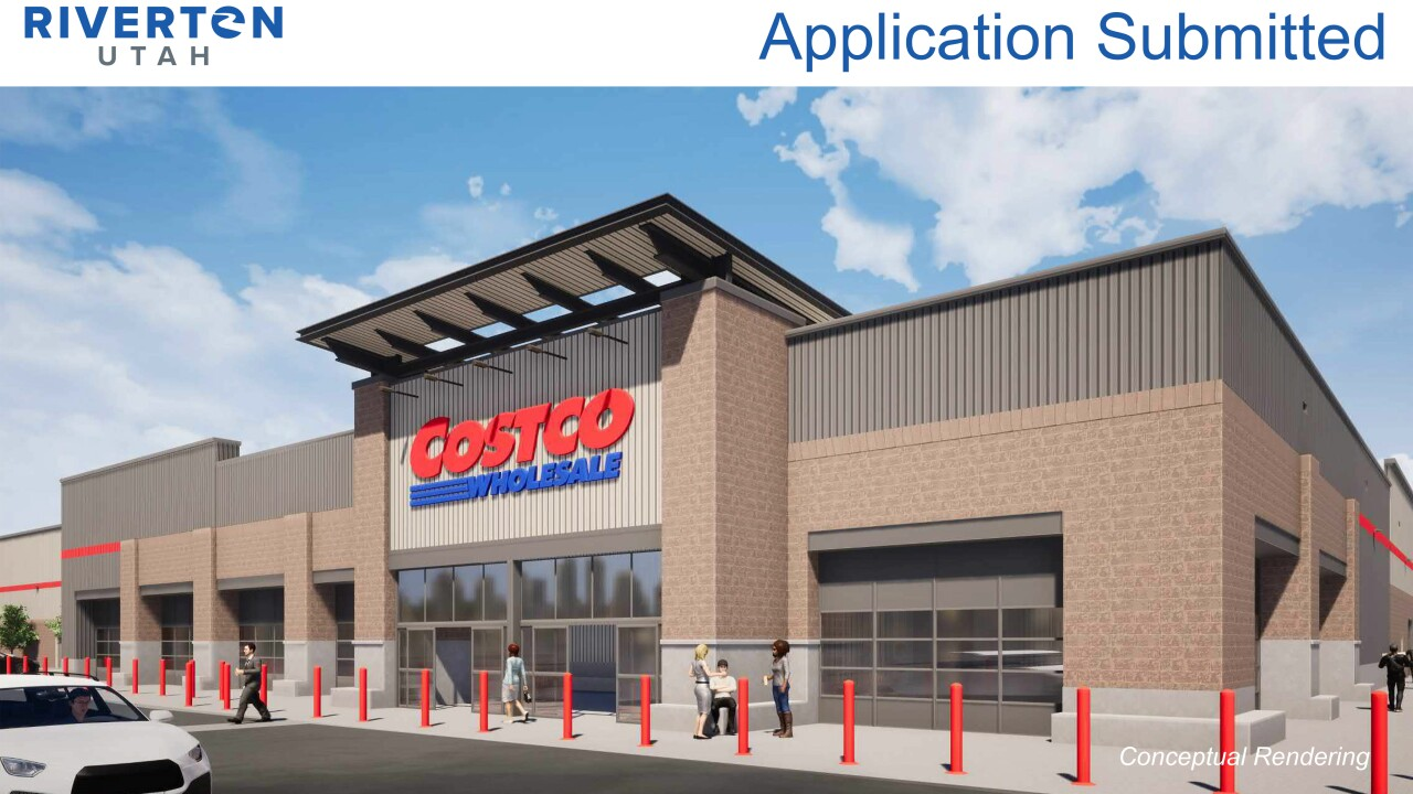 Conceptual rendering of the complete Costco store that was submitted with the proposal.