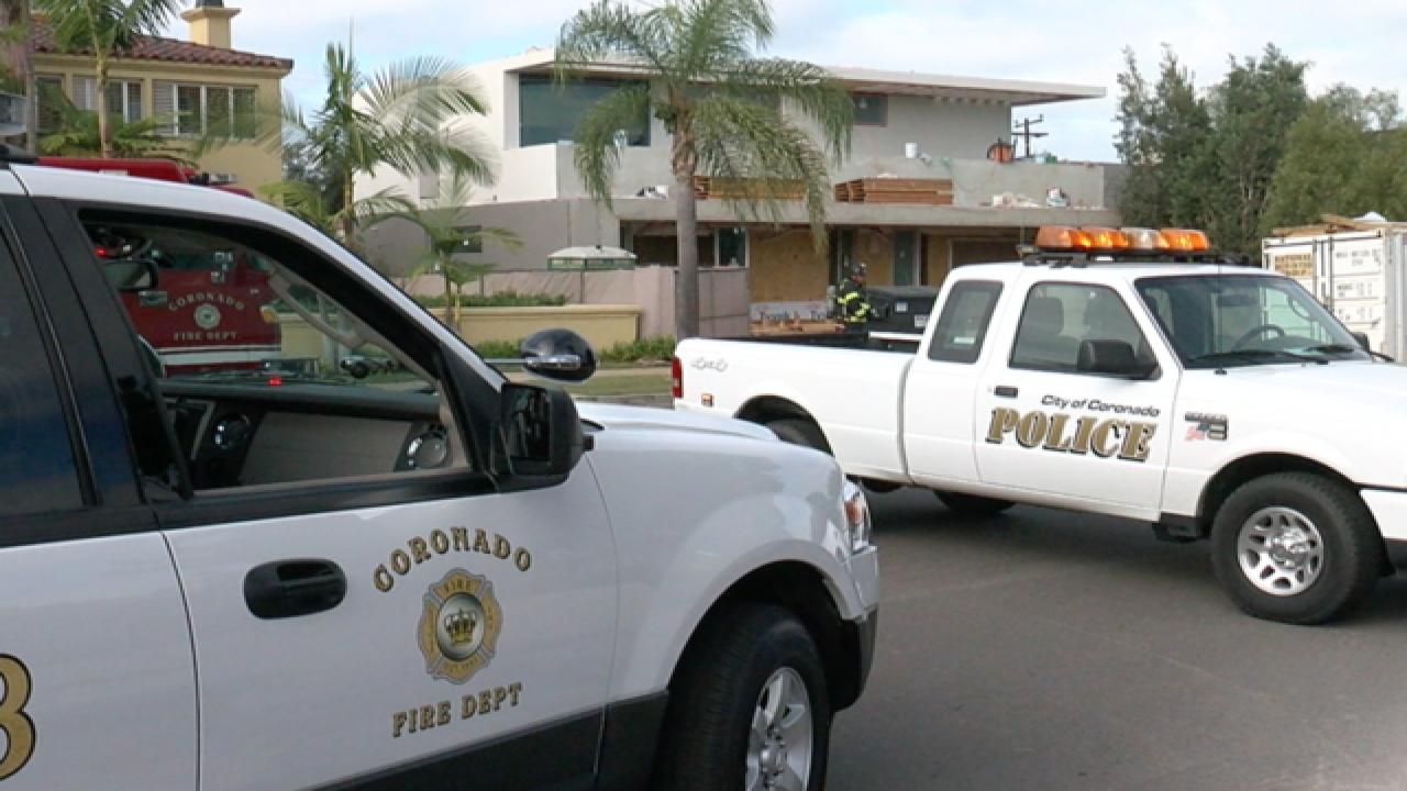 Coronado gas line break at construction site secured