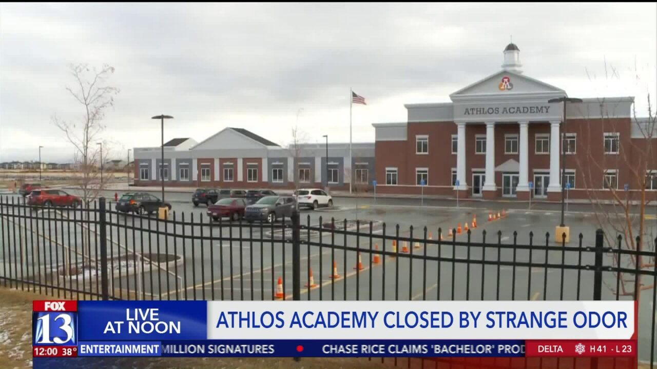 Athlos Academy in Herriman closed after gas-like odor detected