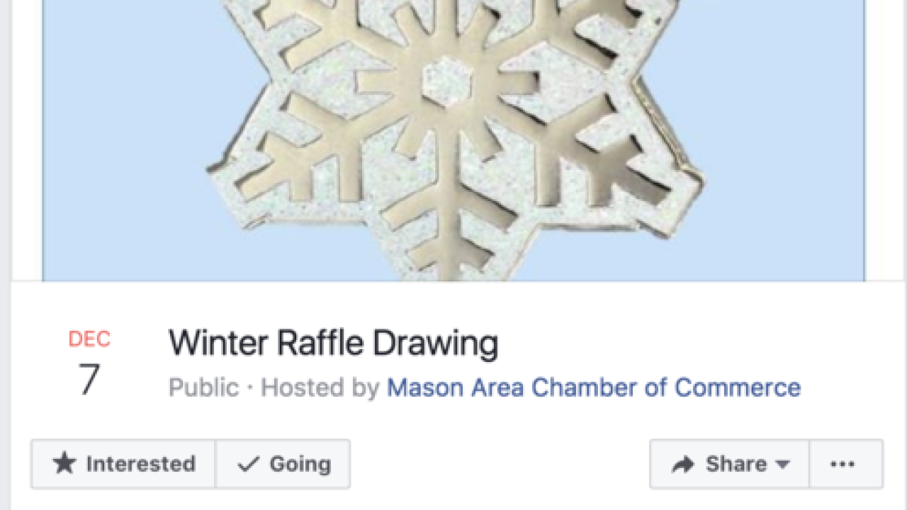 16th annual chamber raffle winter edition to keep Mason's big tree lit