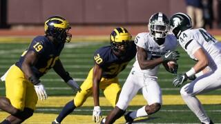 FILE Jayden Reed Michigan State Michigan Football