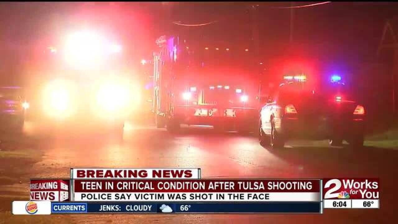 Teen in critical condition after shooting