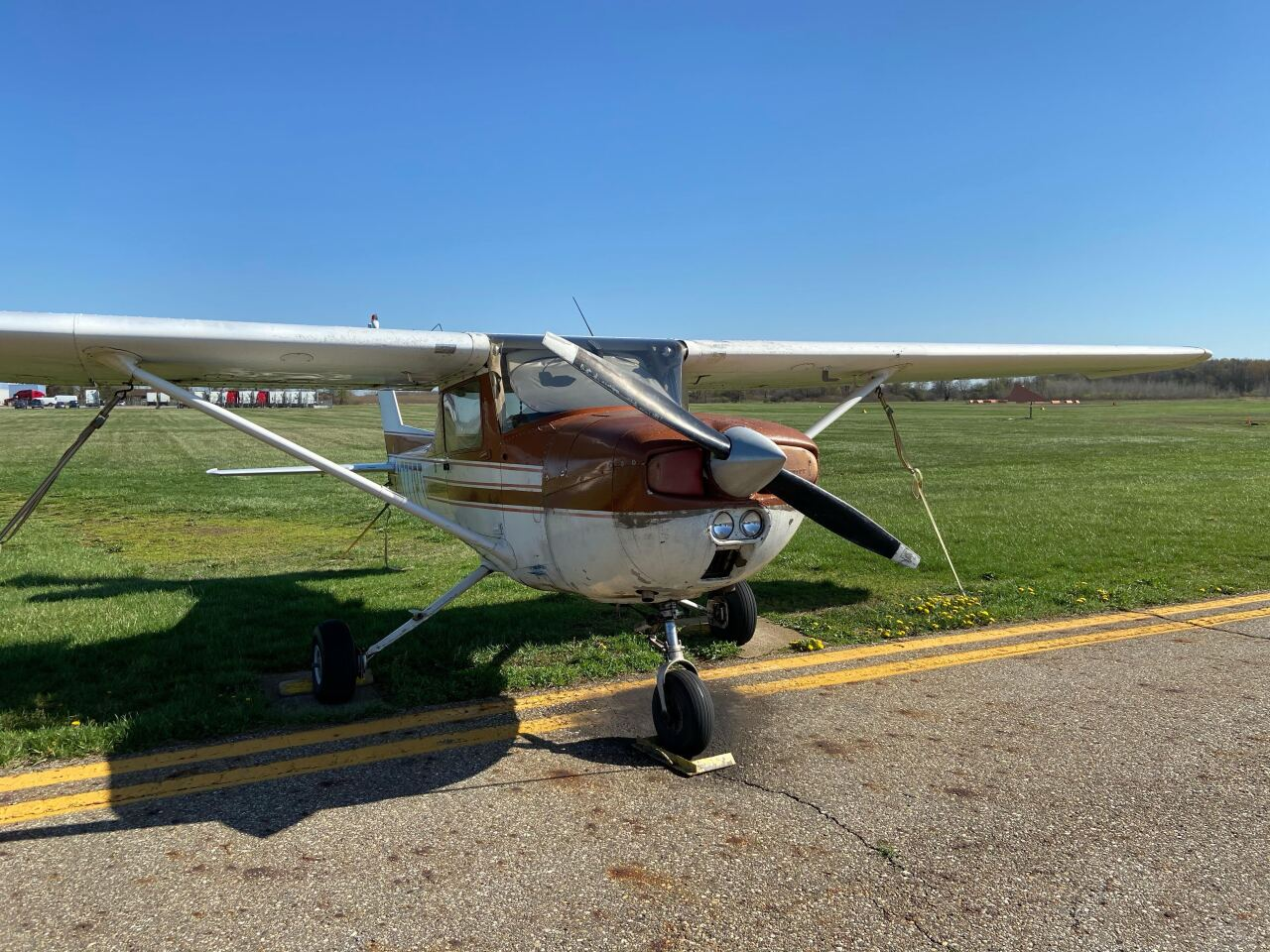 Here is a plane at the Abrams Municipal Airport in Grand Ledge