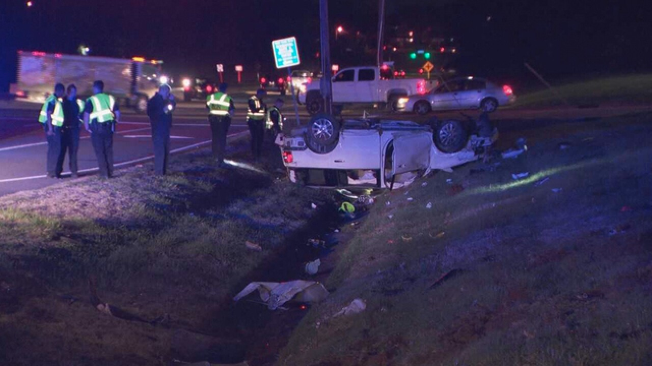 Driver Speeds Through Crash Scene, Hits Police Cars