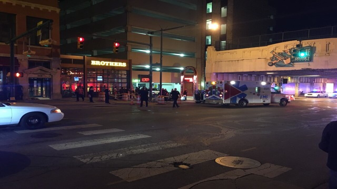 4 people hurt in a downtown parking garage