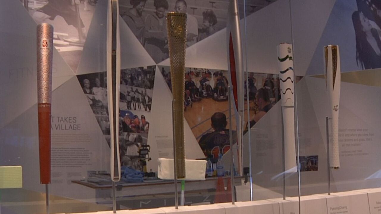 Olympic torches exhibit at the U.S. Olympic and Paralympic Museum