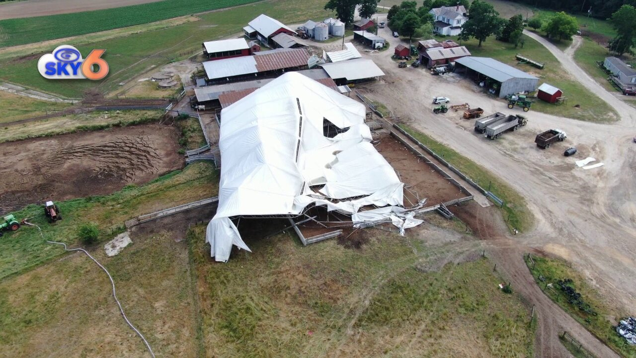 Storm damages barn, spooks cows at family dairy farm inDinwiddie