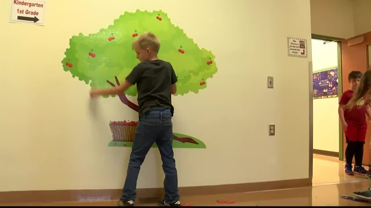 New sensory path helping students in Evergreen