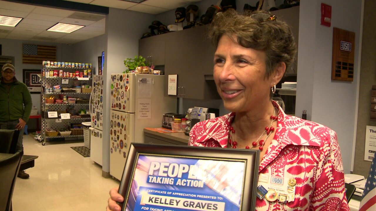 People Taking Action: Retired local school teacher is passionate about volunteering for the USO!