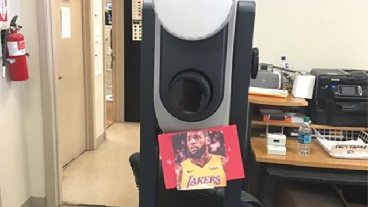 BMV using LeBron pic to stop people from smiling