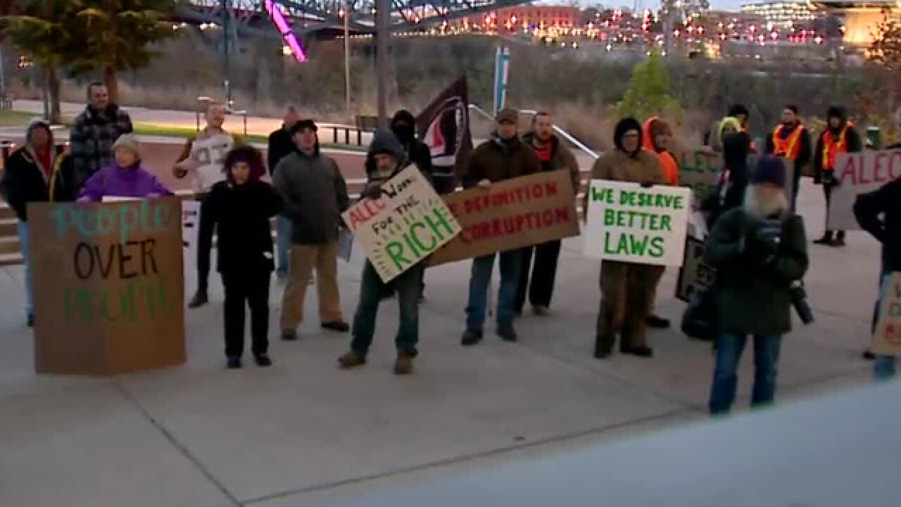 Local Group Protests ALEC Conference
