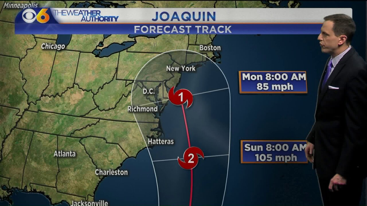 'Too soon' to talk 'specific' local impact as Hurricane Joaquin strengthen