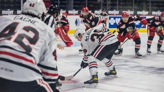 Grand Rapids Griffins face off