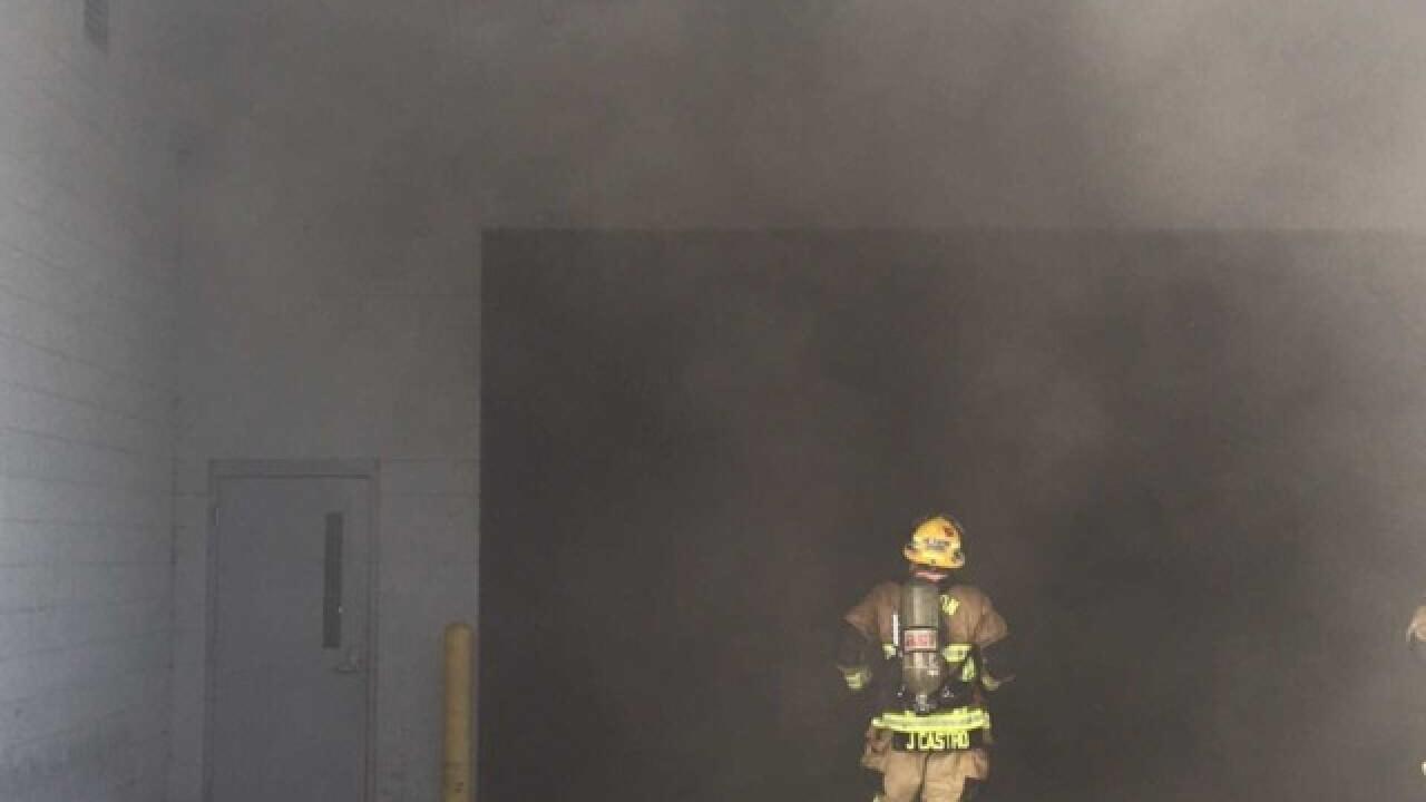 Car fire in Mercedes-Benz dealership