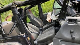 Rolled Jeep near Telluride