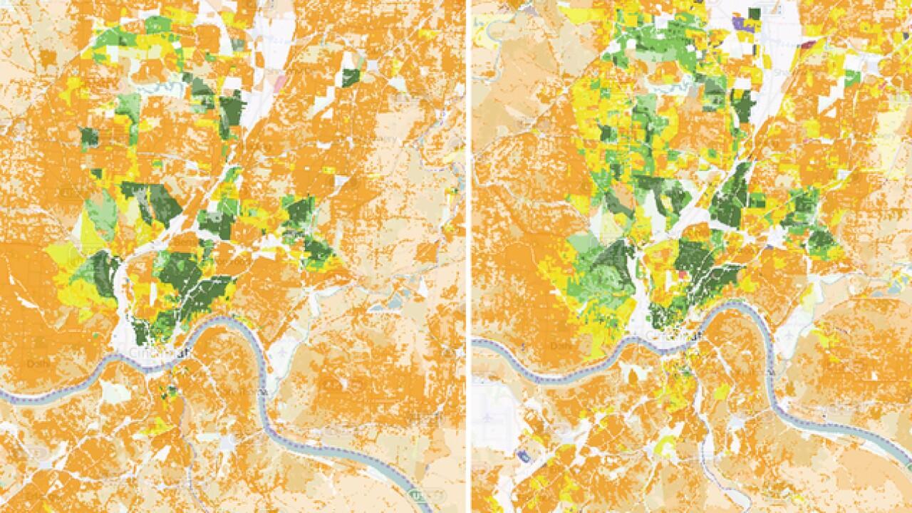 Us Map Cincinnati.University Of Cincinnati Develops Map That Details Racial Diversity