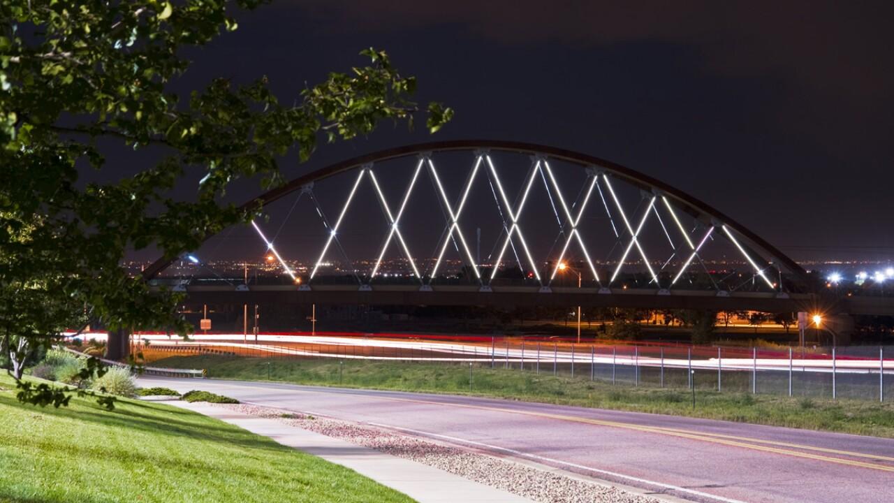 6th Ave bridge lights 6