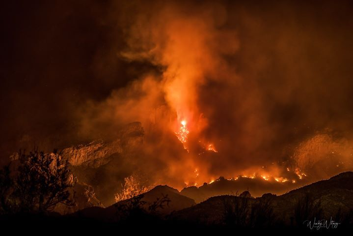 Beautiful but deadly Bighorn Fire blazes at night on the Catalina Mountains