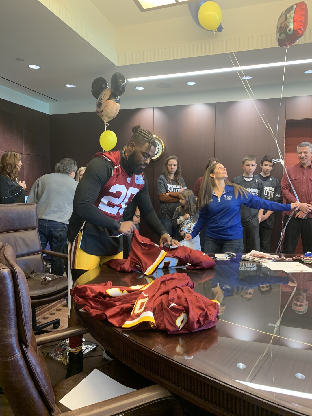 Photos: Redskins standout Landon Collins presents three critically ill children with trips to Disney World